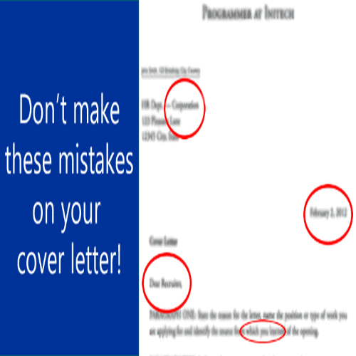 5 Mistakes You Should Never Make On A Cover Letter